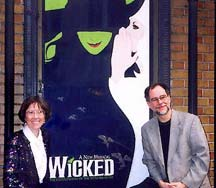 Carol de Giere and Gregory Maguire at Wicked opening 2003
