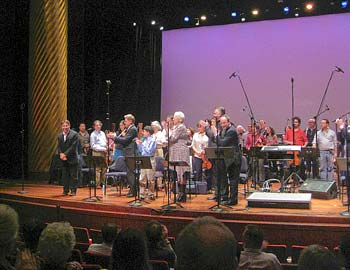 Stephen Schwartz takes a bow at the partial performance of Seance on a Wet Afternoon, at VOX 2009