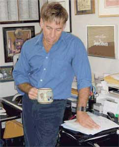 Stephen Schwartz in his NYC office