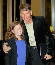 Stephen Schwartz with young fan 2006