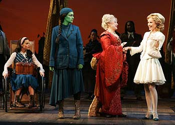 Wicked Costumes: Nessa, Elphaba, Morrible, Galinda at Shiz